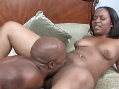 Fat black girl foreplay in bathtub and fucking in bed tubes