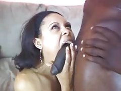 She wants to choke on his big cock tube