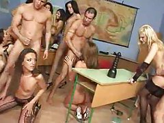 Gorgeous orgy in the classroom sizzles tubes