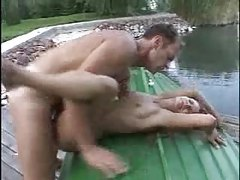 Chick butt fucked by a lake tubes