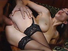 Euro girl is blazing hot and loving it in the ass tubes