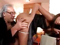 Older guy fucks the black French maid tubes