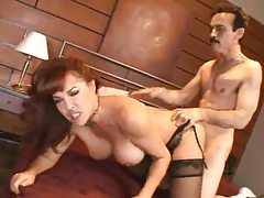 Milf with red hair and big fake tits fucked tubes