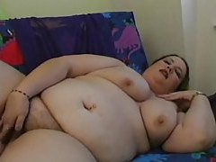 Close up on her fat ass and BBW dildo play tubes