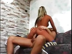 Tanned blonde with a perfect ass sits on his dick tubes