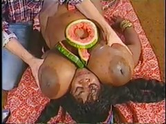 Retro interracial blowjob with a huge black girl tubes