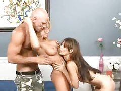Fabulous big titty sluts fucked in threesome tubes