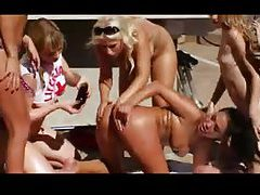 Lesbian orgy poolside with hot pornstars tubes