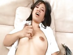Shaved Asian schoolgirl slut fucked in her shaved pussy tubes