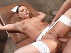 Euro nurse in stockings anal sex tubes