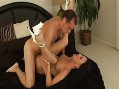 Glamorous slim slut in high heels pounded tubes