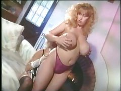 Retro French maid nipple sucking lesbian fun tubes