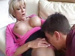 Man eats out a big tits blonde milf tubes