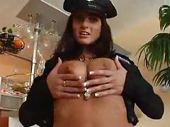 Sexy cop with natural tits sucks cock tubes