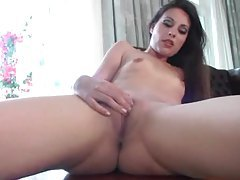 Skinny and solo in heels to show her pussy tubes