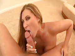 Horny milf on her knees gets a facial tubes