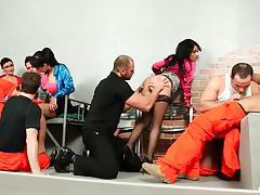 Bisexual orgy in prison with hot sluts tubes