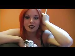 Femdom Smoking Over A Cock In Chastity tubes