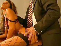 Office blowjob and a big cock up her ass tubes
