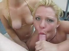 Blown by two sexy hot blondes tubes