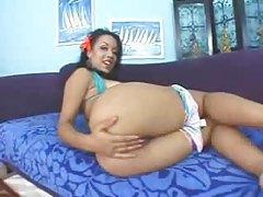 Solo mocha skinned black girl tease tubes