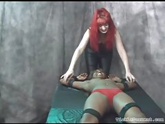 Bound black girl tickled and laughing tubes