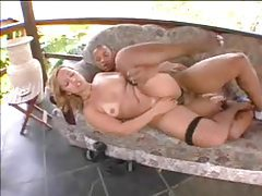 Banging a Brazilian in a skirt outdoors tubes