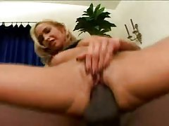 Interracial double penetration with a blonde tubes