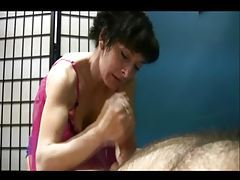 Milf in purple lingerie handjob and blowjob tubes