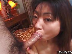 Biko Koike hot blowjob and tit cumshot! tubes