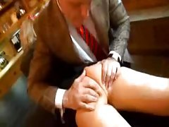 Sexy schoolgirl in tiny skirt toyed in the ass tubes