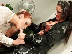 Filthy mess threesome with hot lesbians tubes