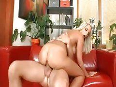 Big wet ass of a blonde riding a dick tubes
