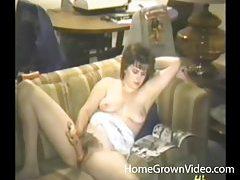 Double dildo action with a retro chick tubes