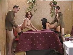Military men fuck two sexy sluts tubes