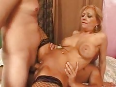 Mature hottie screwed by dicks in a DP tubes