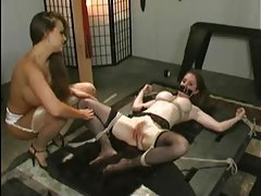 Tied down girl slaped around and abused tubes
