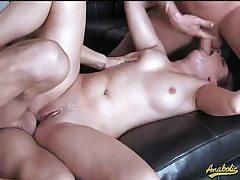 Curvy whore used hardcore by big dicks tubes