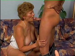 Hard young cock driving into the granny hole tubes