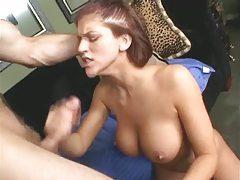 Redhead with big sexy tits sucks a big hard cock tubes
