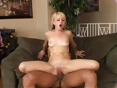 Pigtailed Lexi Belle rides hard cock tubes