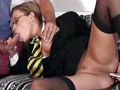 Asian slut Asa Akira has cock in her wet pussy tubes