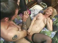 Hard employee cock inside the boss lady tubes