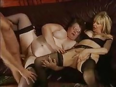 Fat mature and hot milf fucked in kinky threesome tubes