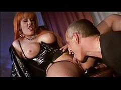 Eating redhead cunt and fucking kinky slut in the ass tubes