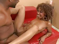 Fun and skinny black lover nailed in her cunt tubes