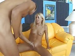 Skinny hot blonde taken in the cunt tubes