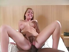 Fake tits blonde goes black in hotel room tubes