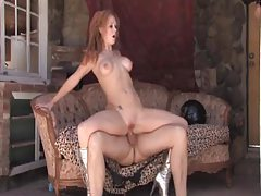 Cowboy fucks a hot slut in silver boots tubes