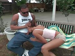 He turns her into his cocksucker outdoors tubes